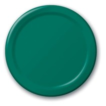 "***Hunter Green 9"" Paper Dinner Plates 24ct"
