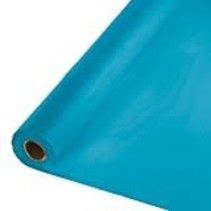 ***Turquoise 100' Roll Plastic Tablecover
