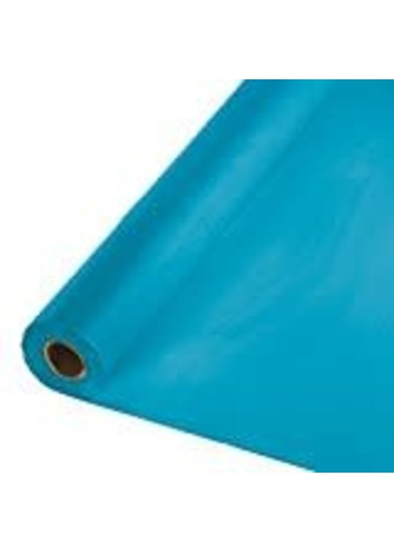****Turquoise 100' Roll Plastic Tablecover
