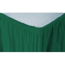 ***Hunter Green 14' Plastic Table Skirts