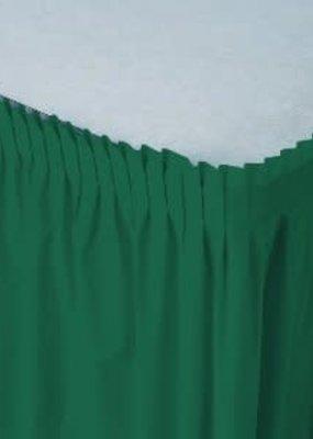 ***Hunter Green 14' Plastic Table Skirts