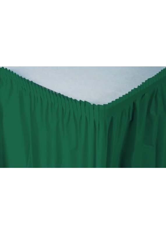 ****Hunter Green 14' Plastic Table Skirts