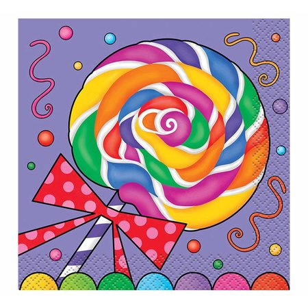 ***Candy Party Beverage Napkins