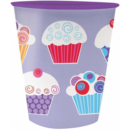 ***Sweet Cupcake 12oz Plastic Cup