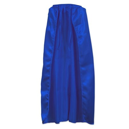 ***Blue Satin Super Hero Cape