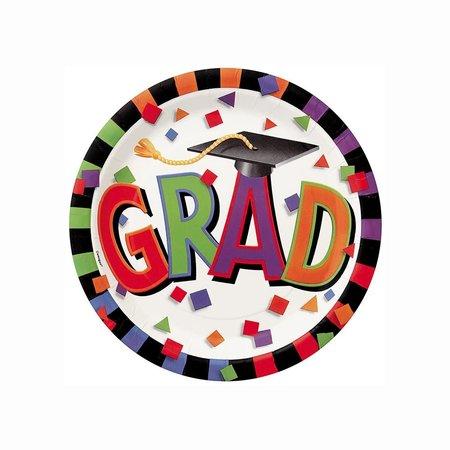 ***Grad Caps 7in Plate
