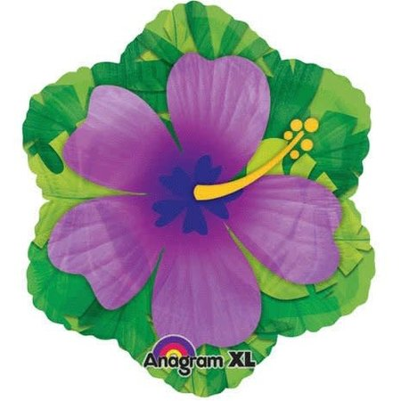 ***Purple Hibiscus Flower Mylar Balloon