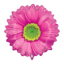 ***Pink Flower Mylar Balloon