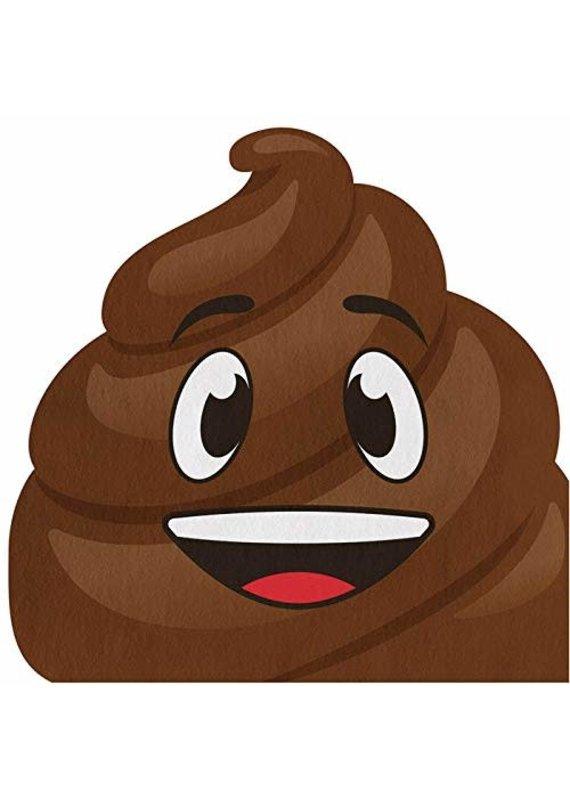 ****Poop Emoji Shaped Napkins 16ct