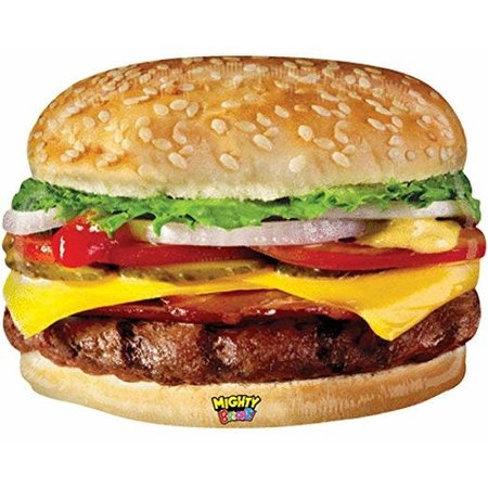 "***Mighty Cheeseburger 31"" Jumbo Mylar Balloon"