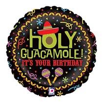 "***Holy Guacamole Birthday 18"" Mylar Balloon"