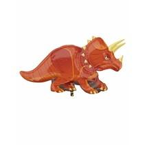 "***Dinosaur 42"" Triceratops Shape Mylar Balloon"