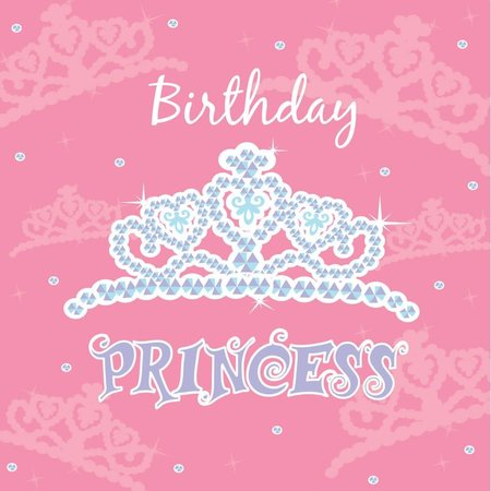 ***Birthday Princess Lunch Napkins 16ct