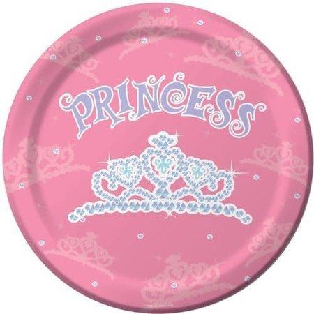 """***Birthday Princess 9"""" Dinner Plates 8ct"""