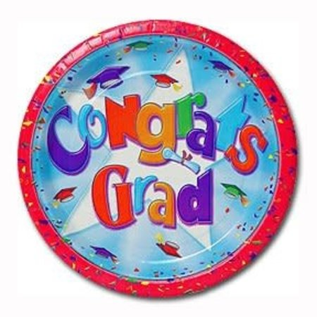 ***Grad Cheer 9in Plate (20ct)