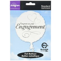***Two Hearts Engagement Congrats Mylar Balloon