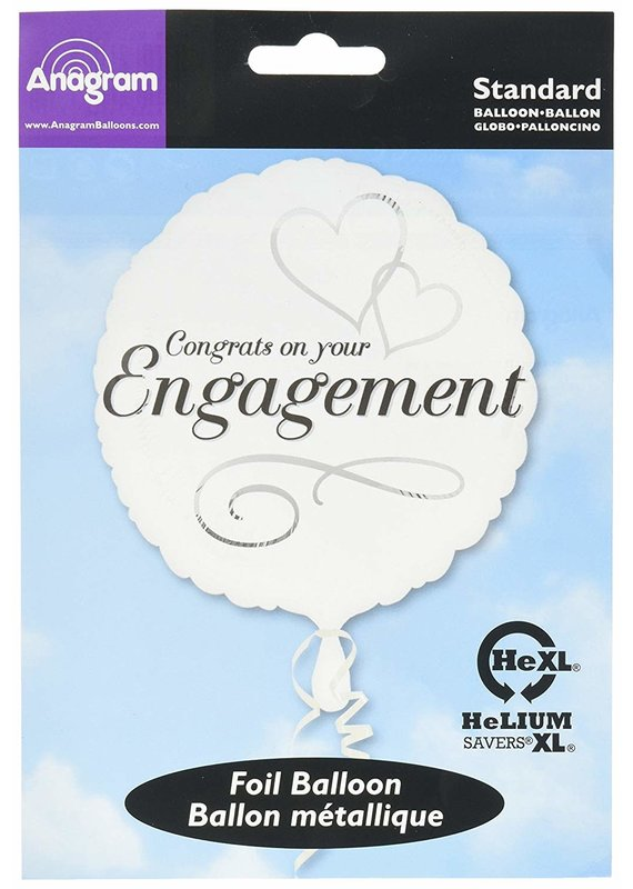 ****Two Hearts Engagement Congrats Mylar Balloon