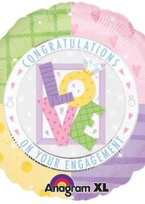 ***Engagement Congratulations Mylar Balloon