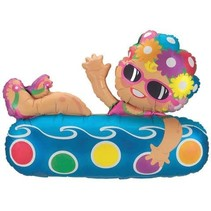 "***Girl on Pool Float 40"" Mylar Balloon"