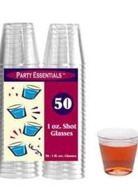 ***Clear 1oz Plastic Shot Glasses 50ct