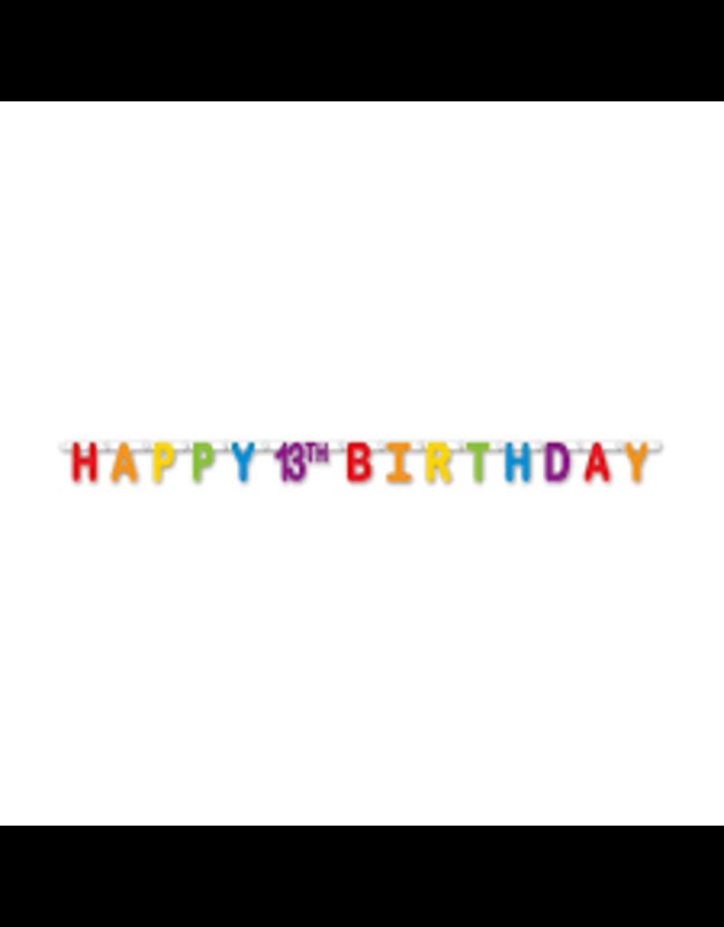 ***13th Birthday Streamer 5.5ft