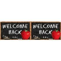 ***Welcome Back to School Metallic Fringe Banner 4ft