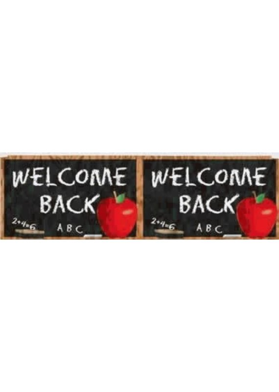 ***Welcome Back to School Metallic Fringe Banner 4ft