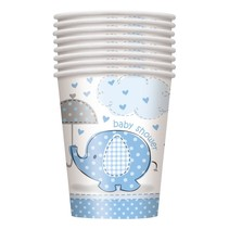 ***Umbrellaphants Blue 9oz Cups