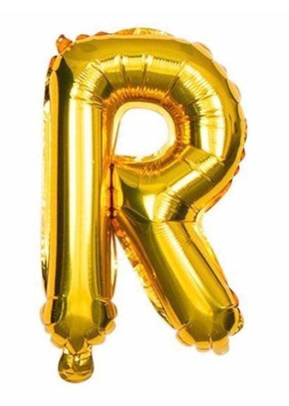 "***Gold Letter R Balloon 32"" Tall"