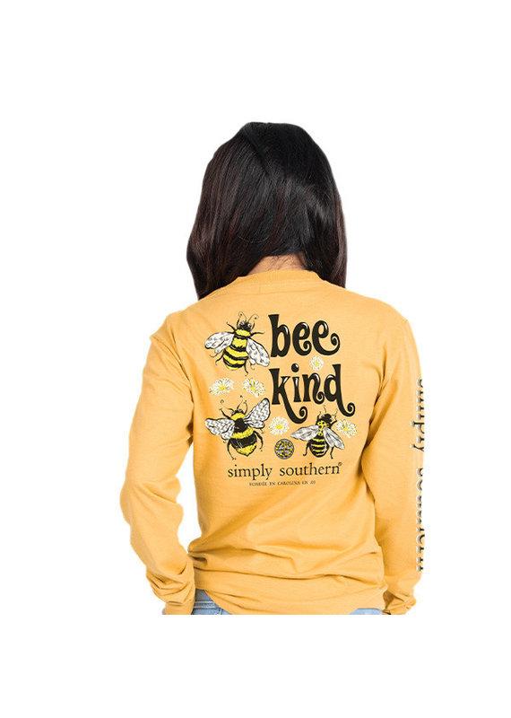 ***Long Sleeve Bee Mustard