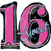 "***Sweet 16 mylar 28""x26"" Balloon"