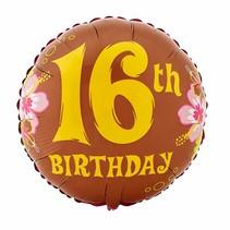 ***16th Birthday Hawaiian Mylar Balloon