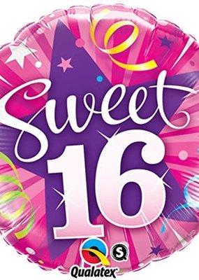 ***Sweet 16 Shining Star Mylar Balloon