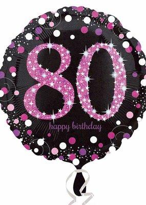 ***Pink Celebration 80 Mylar Balloon