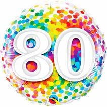***Rainbow Confetti 80 Mylar Balloon