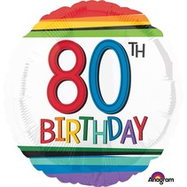 ***Rainbow Birthday 80 Mylar Balloon