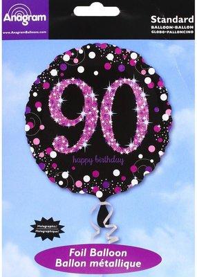 ***Pink Celebration 90 Mylar Balloon