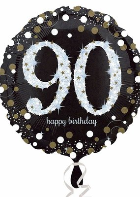 ***Sparkling Birthday 90 Mylar Balloon