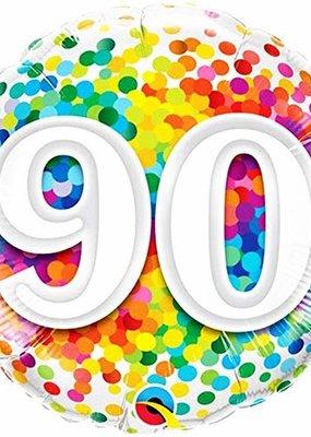 ***Rainbow Confetti 90 Mylar Balloon