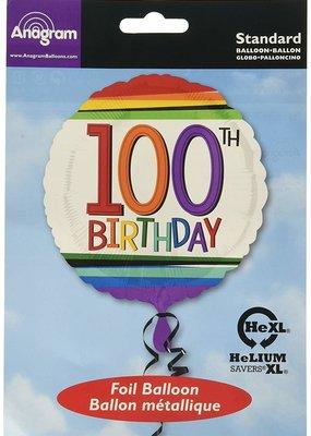 ***Rainbow Birthday 100 Mylar Balloon