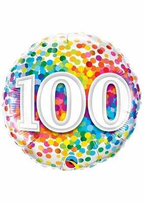 ***Rainbow Confetti 100 Mylar Balloon