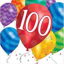 ***Balloon Blast 100th Lunch Napkins 16ct