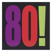 "***Unique ""80"" Lunch Napkin"