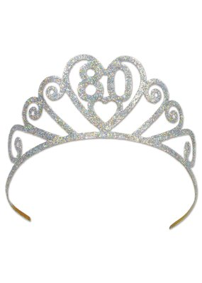 ***80 Metal Glittered Tiara