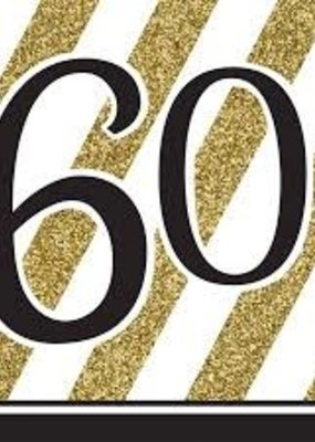 ***Black & Gold 60th Lunch Napkins