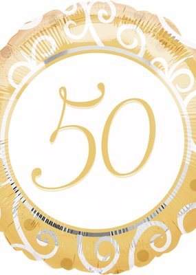 "***50th Anniversary 18"" Mylar Balloon"
