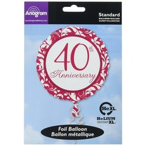 ***Ruby 40th Anniversary Mylar Balloon