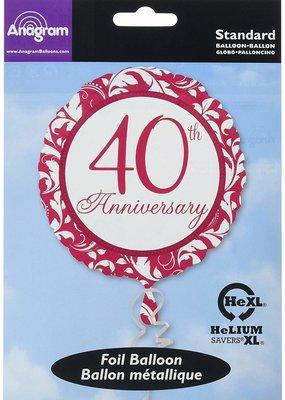***Ruby 40th Anniversary Mylar Balloon