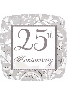 ***Silver Scroll 25th Anniversary Mylar Balloon
