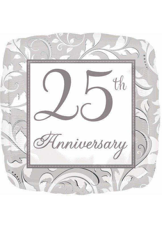 ****Silver Scroll 25th Anniversary Mylar Balloon